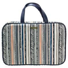 Sophia Joy Stripe Grid Weekender Cosmetic Bag 37b0cc1bdd021