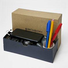 Birchbox Man Box Hack: Desktop Organizer with Phone Charger   #Birchbox #BirchboxMan