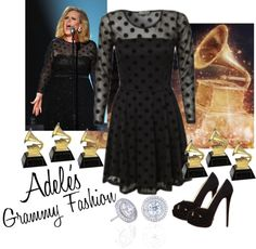 """Adele's Grammy Fashion"" by gigiboofus ❤ liked on Polyvore"