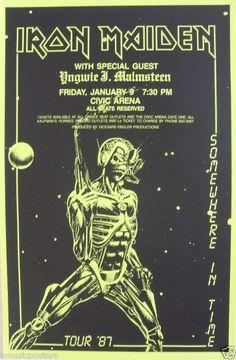 Iron Maiden e Yngwie Malmsteen - 1987