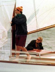 John and Carolyn sailing