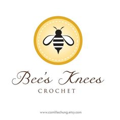 Logo Design for Bee's Knees Crochet by Camille Chung