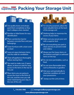 Tips for how to pack your storage unit.