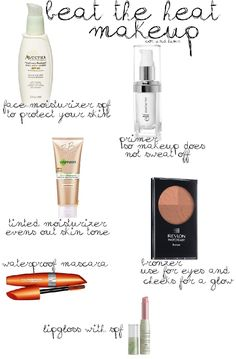 summer makeup essentials. nice to know at the beginning of summer...