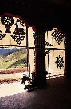 Ganden Monastery . Tibet