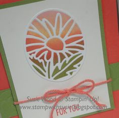 Stampin' Up!- A beautiful card using the 'Timeless Tags' Framelits Dies!  I LOVE IT!