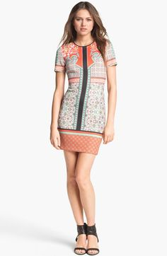 Clover Canyon 'Cow Hand' Stretch Shift Dress available at Nordstrom