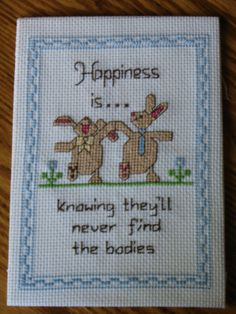 Cross Stitching for Cross People