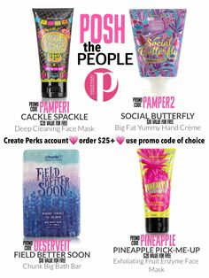 Code good until july posh products, natural skin care, hair spa, perfe Deep Cleaning Face Mask, Diy Moisturizer, Posh Products, Best Skin Care Routine, Hair Spa, Healthy Living Quotes, Maquillage Halloween, Perfectly Posh