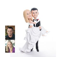 custom bobbleheads wedding cake topper EWFT046 as low as $125 |