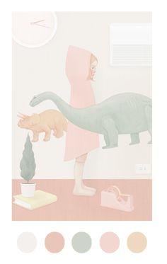 As ilustrações da taiwanesa Hsiao-Ron Cheng chamam a atenção pela delicadeza e as paletas de cores pastéis e suaves.