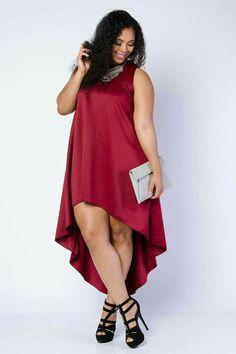 Moda Plus-size - Adoro esse modelo de vestido!