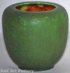 Grueby Pottery Matte Green Vase from Just Art Pottery