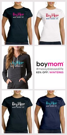 Boymom embraces the journey of moms raising boys. It's our badge of honor! For a limited time save 65% OFF all Boymom apparel during our sale. Use code WINTER65 when you checkout today. Shop Now!