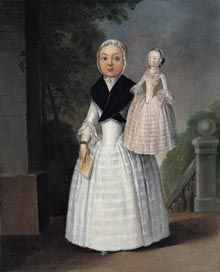 English School, Portrait of a Girl with a Doll, 1767 - Fundación Yannick y Ben Jakober