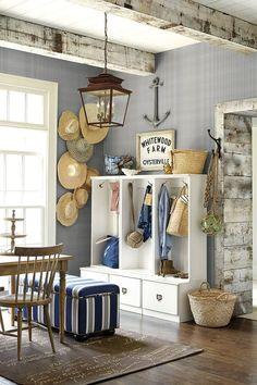 Ordinaire Straw Hat Decoration Salon Bord De Mer, Deco Bord De Mer, Intérieur  Nautique,
