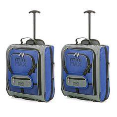 f2e604f099 MiniMax Bagage Cabine Valise Enfant Trolley Sac à Dos avec Pochette pour  Votre Jouets/Poupées/ Nounours