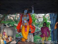 Lord Krishna and Govardhan Hill Story and Sculptures