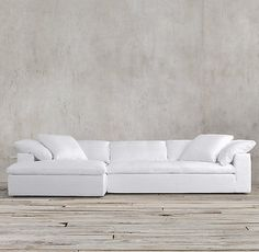 Cloud Track Arm Fabric Chaise Sectional