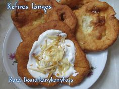 Kefires lángos (Gluténmentesen is) recept foto Kefir, French Toast, Muffin, Paleo, Chicken, Meat, Breakfast, Food, Diets