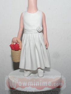 Flower girls personalized figurine BB18