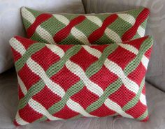 Bargello Pillow Needlepoint Pillow Bedroom Decor by Lisolabella