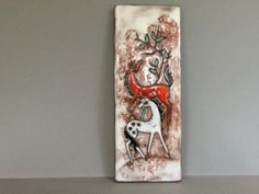Ruscha Wall Plaque / Tile / Hanger with 2 by VintageCeramics4You