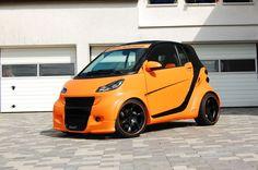 Big Orange - #Smart im #Breitbau-Look!  Smart ganz wild: Smart ForTwo Cabrio    #tuning