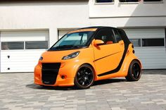 Big Orange - #Smart im #Breitbau-Look!  Smart ganz wild: Smart ForTwo Cabrio    #tuning