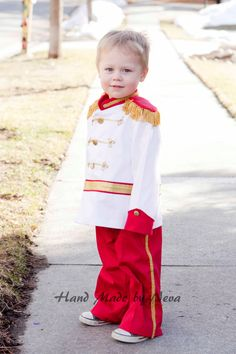Prince Charming Costume - Circus Ring Master Costume - Toddler Child Costume - Handmade Birthday Fantasy Dress Up - Boy Prince Photo Props by HandMadeByNeva on Etsy https://www.etsy.com/listing/126066305/prince-charming-costume-circus-ring