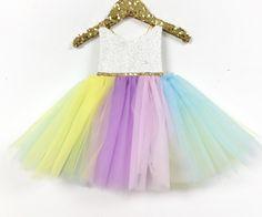 I Believe in Unicorns Pastel Tutu Sparkle Romper - Belle Threads