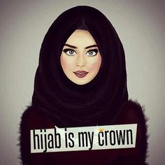Image discovered by Find images and videos about girl, islam and hijab on We Heart It - the app to get lost in what you love. Brown Hair Cartoon, Black Girl Cartoon, Cute Cartoon Girl, Cartoon Girl Drawing, Girly M, Hijab Dp, Mode Hijab, Muslim Hijab, Casual Hijab Outfit