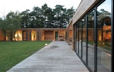 This house is exactly as ours - architect Johan Sundberg!!!  Living quarters in one wing and bedrooms in other.