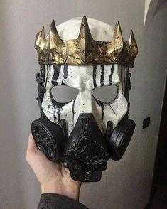 Skull King gas mask – Leather mask - To Have a Nice Day Totenkopf Tattoos, Creation Art, Skull Mask, Skull Helmet, Maquillage Halloween, Masks Art, Mask Design, Masquerade, Cool Art
