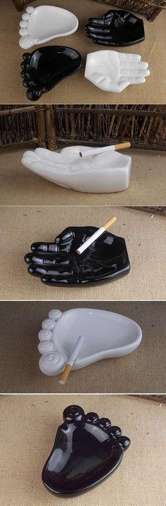Hand & Foot Shaped Ceramic Ashtray
