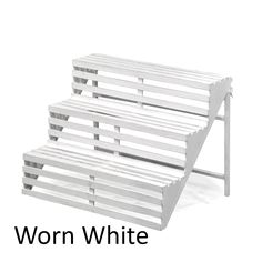 Wooden Three Step Display Stand