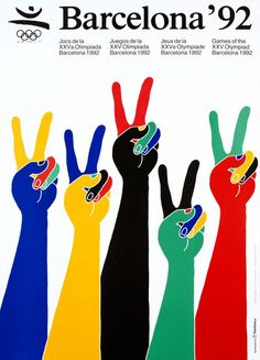 Roomsby.com  With the opening of the winter Olympics 2014 we look at art work from Barcelona '92, Olympic Games