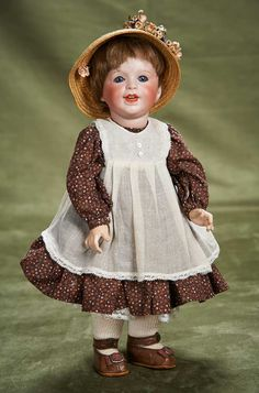 "14"" (36 cm.) Smiling French Bisque Character with Toddler Body by SFBJ 300/600"
