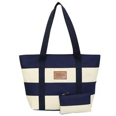 Luxury Canvas Stripe Tote Bag   $ 25.99 & FREE Shipping Worldwide   Tag a friend who would love this!   We accept Paypal and Credit Card  Buy one here---> https://www.smartbuyerz.com/luxury-canvas-stripe-tote-bag/