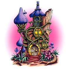 Fairy Tree House Digi Stamp in Digital images
