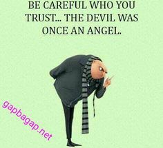 #Funny #Minion #Quote About Devil vs. Angel