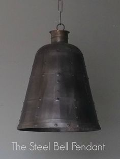 The Steel Bell Pendant Light. Available at The House Planner.