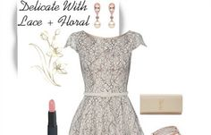 is floral lace dress is all you need to put a girly spring in your step and a girlish flirt in your smile all with an air of sophistication.   #stylespiration #lace #fashion