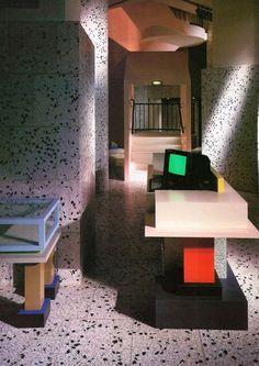 aqqindex:          Ettore Sottsass, Esprit Store Interior, 1985