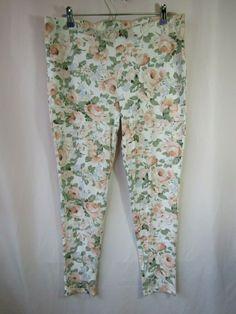 b9dc06fe6c34 GUESS Womens Size XL Springtime Floral Elastic Waist Leggings  GUESS