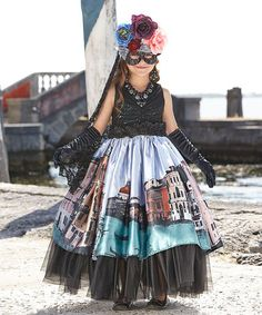 Look what I found on #zulily! Venetian Carnival Queen Dress - Girls by chasing fireflies #zulilyfinds