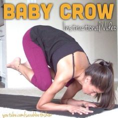 """The first video of the Intermediate Arm Balance series has been uploaded to the YouTube channel! www.youtube.com/sarahbethshow Go try it out :) a baby crow practice is going to set you up with the strength and flexibility for the future arm balances in the series including """"Crow & Crane Pose"""" which will be uploaded this Friday! Take a picture of your baby crow wherever you are in the pose and use the hashtag #sarahbethyoga so I can find it! Enjoy :) #yoga #armbalance #babycrow"""