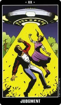 May 18 Tarot Card: Judgment! (Fradella deck) Beware jumping to quick conclusions and immediate decisions now; take time to truly consider your situation