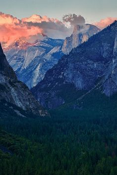Sunset at Half Dome - I had a friend lost in Yosemite for three days when he went up there to capture this moment.