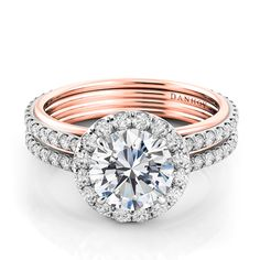 Rose gold and diamonds - so in love!  #engagementring @danhovjewelers